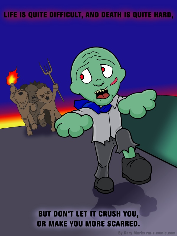 Remove R Comic (aka rm -r comic), by Gary Marks: It's hard being a zombie, 7 of 8