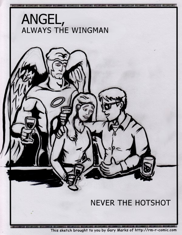 Remove R Comic (aka rm -r comic), by Gary Marks: On a wing and a prayer  Dialog:  Care for a flight of fancy? 
