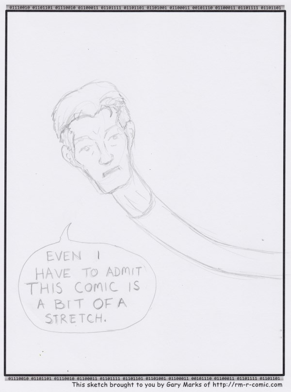 Remove R Comic (aka rm -r comic), by Gary Marks: Getting a head  Dialog:  Now that's what I call a lot of necking. 